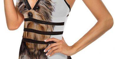 Bañador de una pieza para mujer, diseño de Yorkshire Terrier