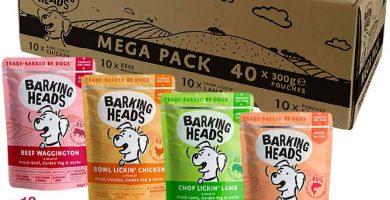 Barking Heads Comida Húmeda para Perros - Paquete surtido - Receta natural sin cereales ni aromas artificiales, con vitaminas y minerales añadidos 40 x 300 g