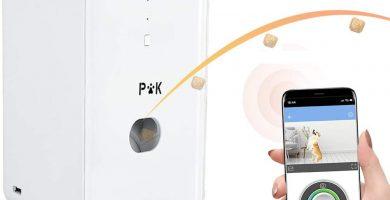 PUPPY KITTY CÁMARA para Perros, Lanzador de Golosinas con Cámara HD WiFi, Vista de Completa de 165°, Visión Nocturna y Comunicación de Audio Bidireccional, Dispensador de Bocadillos para Perros.