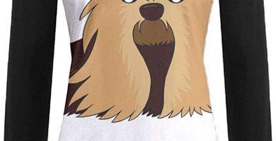 Camisetas de Manga Larga para Mujer Yorkshire Terrier Cartoon