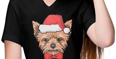 Camiseta Navidad Mujer Yorkshire varios colores