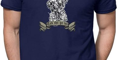 Camiseta Yorkshire Azul de Hombre
