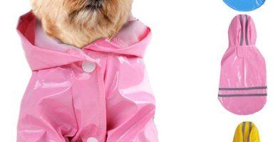 Chaqueta para la lluvia con Capucha Impermeable Reflectante diferentes colores para Yorkshire Terrier
