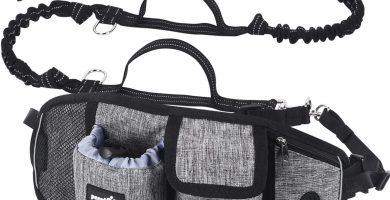 Correa Perro para Correr, Correa Manos Libres para Perros Proteger la Cintura con Costuras Reflectantes, Cinturones de Cintura Ajustables