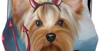 Diablo Halloween Yorkshire Terrier Taza de té Perro Bolsa Vintage