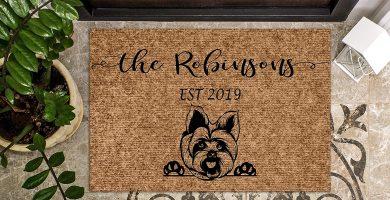 Felpudo Personalizable con diseño de Perro Yorkshire Terrier