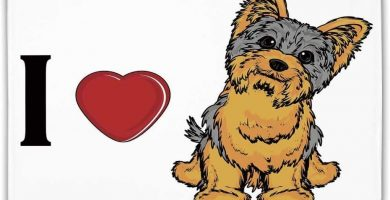 Felpudo de goma antideslizantes - Yorkie, Me encanta Yorkshire Terrier