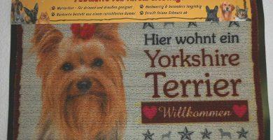 Felpudo muy Resistente de Puerta con Imagen de Yorkshire Terrier