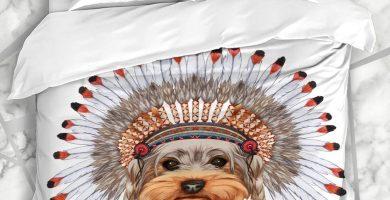 Funda nórdica De moda en divertido Indio Yorkshire Terrier Estilo Animales Vida salvaje Belleza