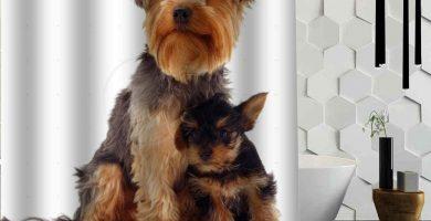 La Mejor Cortina de Ducha de Encargo de los Perros de Yorkshire Terrier Cortina de baño