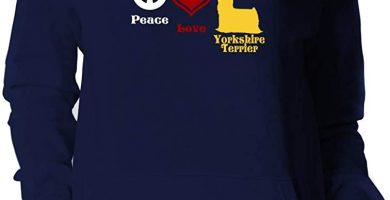 Love, Yorkshire Terrier Sudadera con Capucha para Mujer