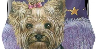 Monedero Lila Violeta Purple Angel Yorkshire Terrier Vintage