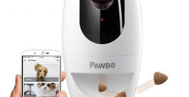 Pawbo Plus Cámara interactiva para Mascotas con tecnología Acer: cámara de Video HD WiFi con Audio bidireccional, con dispensador de golusinas y Puntero láser deseñado para Perros y Gatos