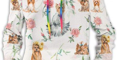 Yorkshire Terriers Sudadera Casual con Capucha para Mujer con Capucha