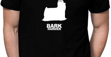 Play Hard Yorkshire Terrier Bark Harder Camiseta Hombre