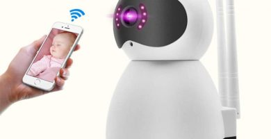 WAWZNN 1080P HD Camara Vigilancia, Cámara de Vigilancia WiFi con Audio de 2 Vías y Visión Nocturna,Adecuado para Mascotas, Niños, Ancianos