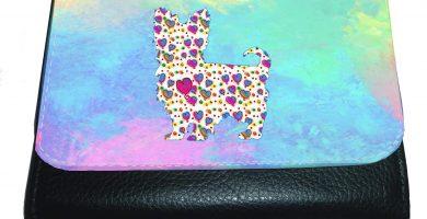 Yorkshire Terrier - Monedero con diseño de corazones con diseño de Yorkie Navidad, cumpleaños, día de la madre