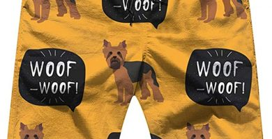 Yorkshire Terrier Perro Coloridos Bañador para Hombre Playa Shorts Cortos,2XL