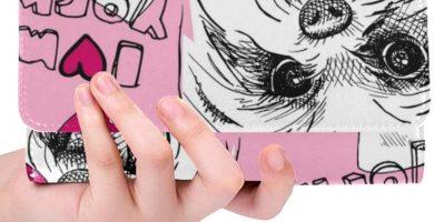 imagen Personalizada única Perro York Bows Mujer Tríptico Monedero Monedero Largo